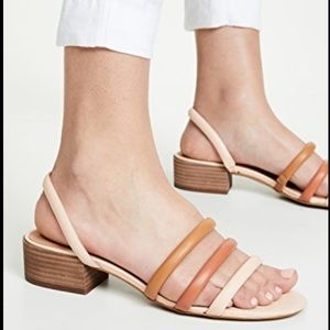 New Madewell Addie peach leather strap sandal 8.5